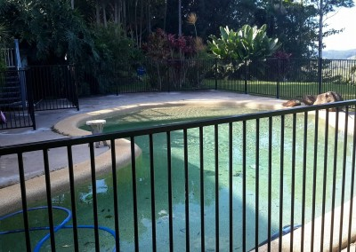 Aluminum Black Flat Top Pool Fencing In Newrybar