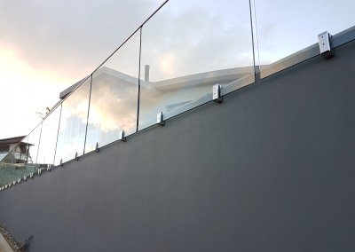 Frameless Face Mount Glass Balustrade In Ocean Shores