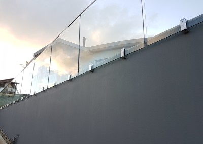 Framless Face Mount Glass Balustrade In Ocean Shores