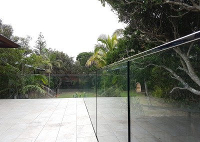Glass Balustrade With Face Mount Spigots In Suffolk Park