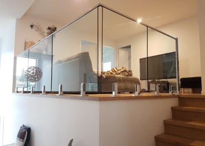 Internal Glass Balustrade In Lennox Head