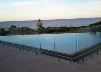 Fully Frameless Glass Pool Fencing With Stainless Spikots