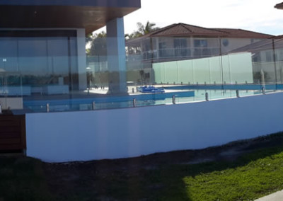 Fully Frameless Glass Pool Fencing In Ballina