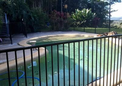 Aluminum Black Flat Top Pool Fencing In Newrybar
