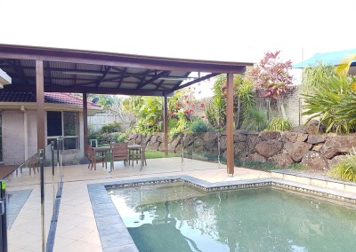 "Semi - Frameless With Stainless Steel Posts And ""D Clamps"" In Lennox Head"
