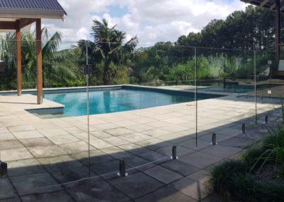 Fully Frameless Glass Pool Fencing In Newrybar