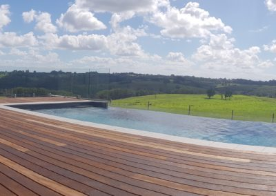 Frameless Glass Pool Fencing Deck Mounted