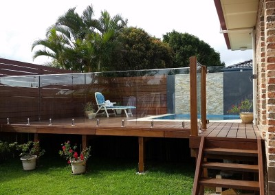 Frameless Glass Pool Fencing With A Nano Rail In Lennox Head