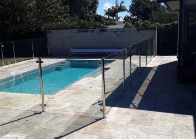 Semi - Frameless With Stainless Steel Posts In Alstonville